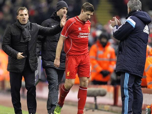 Brendan Rodgers-Steven Gerrard-Jose Mourinho