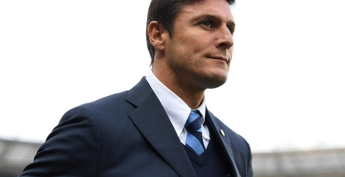 TURIN, ITALY - MARCH 18:  FC Internazionale Vice President Javier Zanetti looks on prior to he Serie A match between FC Torino and FC Internazionale at Stadio Olimpico di Torino on March 18, 2017 in Turin, Italy.  (Photo by Valerio Pennicino/Getty Images)